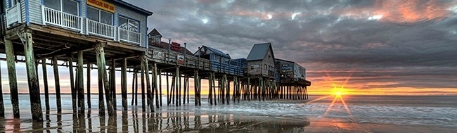 OOB Pier with Clouds and Sunrise