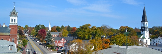 Saco Main St from Above