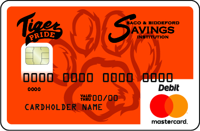 Biddeford Tiger Pride Debit Card with Tiger Paw