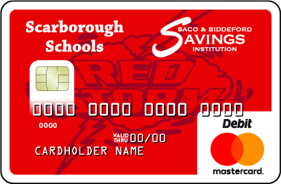 Scarborough High School Debit Card with Red Riots Logo
