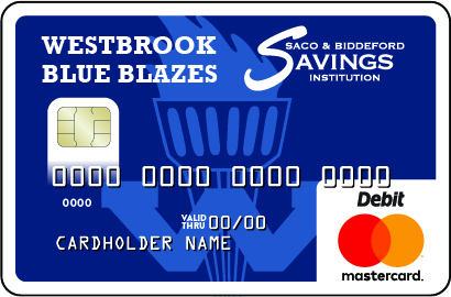 Westbrook Debit Card with Blue Blazes Logo