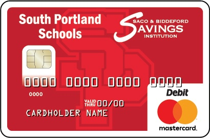 South Portland Debit Card with SP Logo