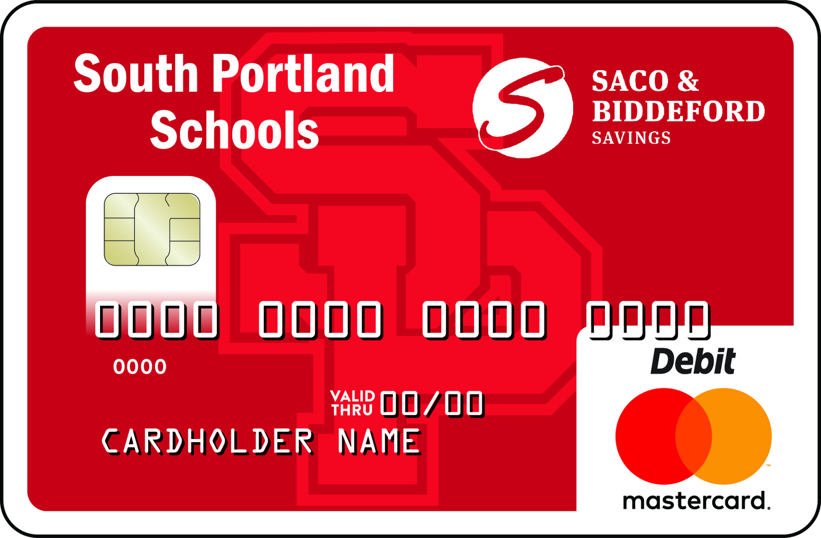 South Portland Community Card with SPHS Logo