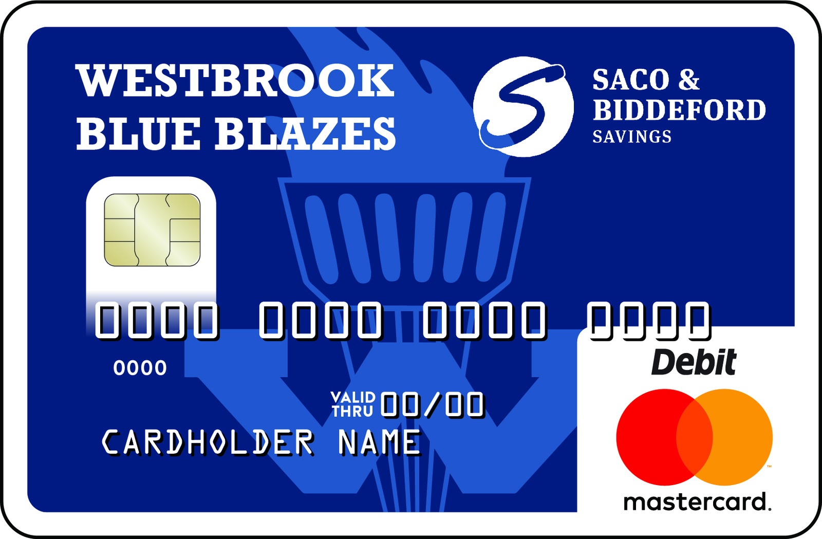 Westbrook Community Card with WBHS Logo